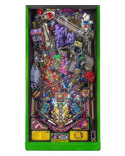 Ghostbusters Limited Edition pinball playfield at Joystix