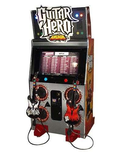 Guitar Hero arcade game at Joystix
