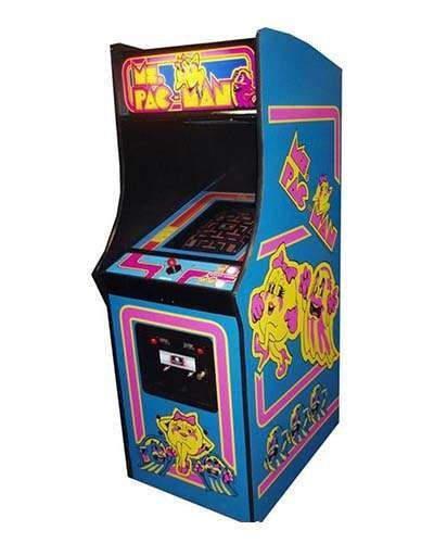 Ms Pac Man arcade game at Joystix