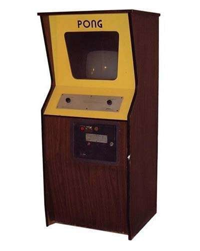 Pong arcade game at Joystix