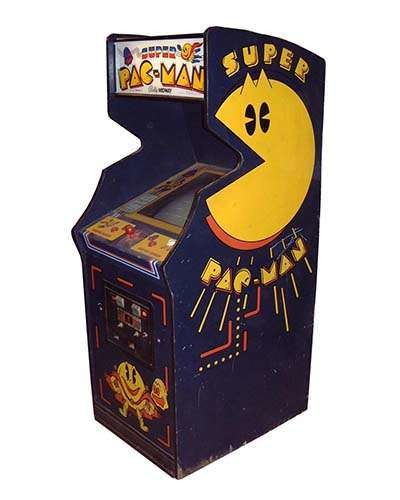 Super Pac Man arcade game at Joystix