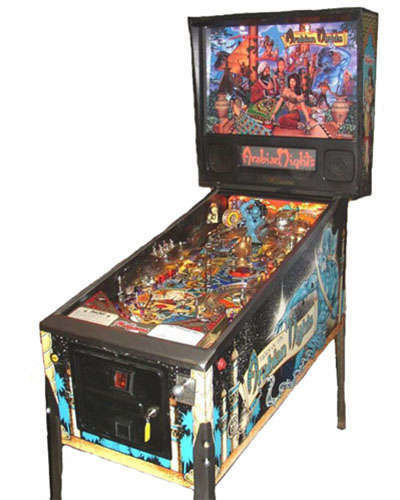 Arabian Nights pinball at Joystix