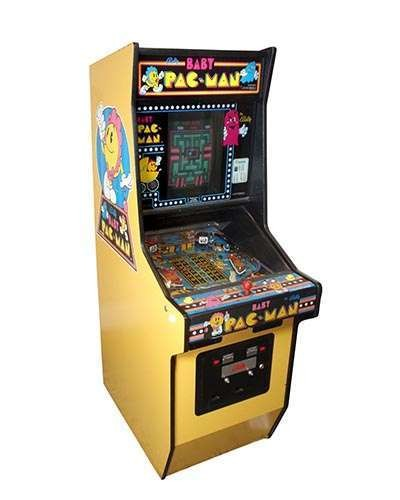Baby Pac Man arcade game at Joystix
