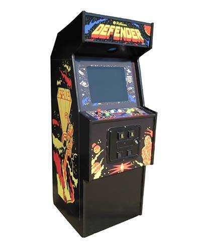 Defender arcade game at Joystix