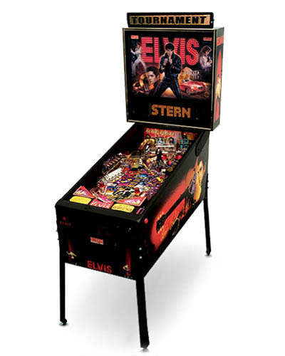 Elvis pinball machine at Joystix