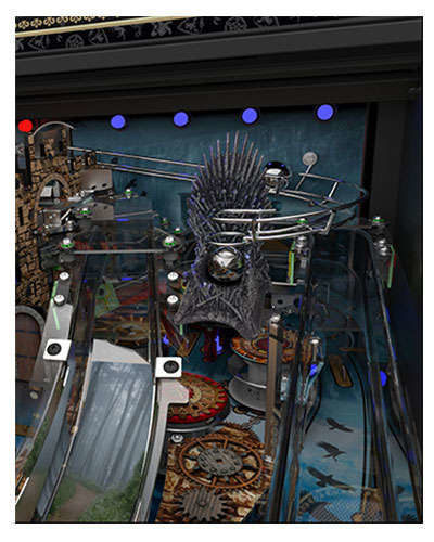 Game of Thrones Limited Edition pinball details at Joystix 4
