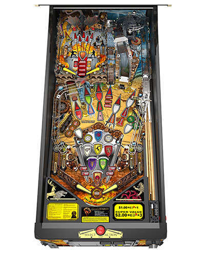 Game of Thrones Limited Edition pinball playfield at Joystix