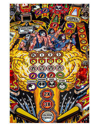 Kiss Limited Edition pinball details at Joystix 1