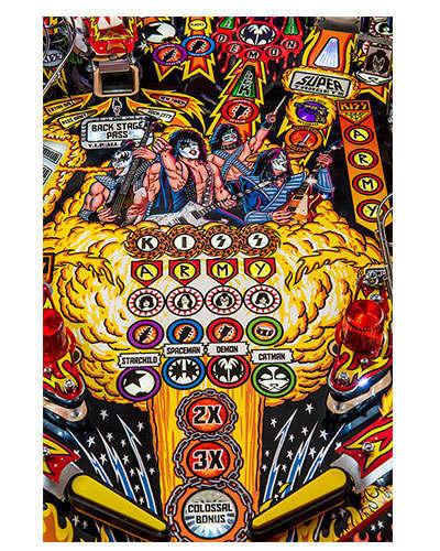 Kiss Limited Edition pinball details at Joystix 1