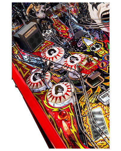Kiss Limited Edition pinball details at Joystix 3