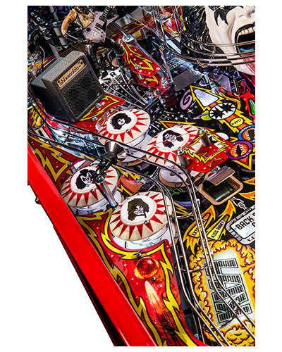 Kiss Limited Edition pinball details at Joystix 3