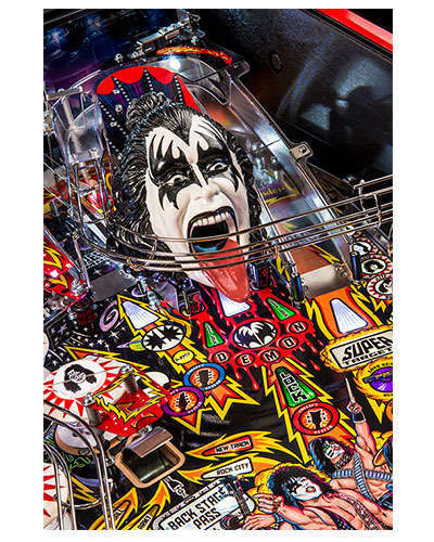 Kiss Limited Edition pinball details at Joystix 4
