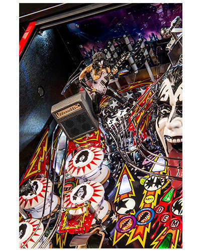 Kiss Limited Edition pinball details at Joystix 5