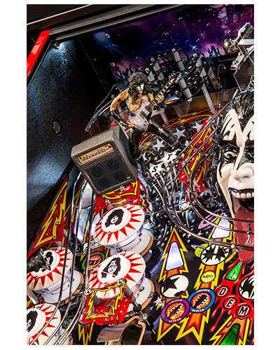 Kiss Limited Edition pinball details at Joystix 5