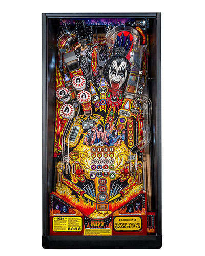 Kiss Premium pinball playfield at Joystix