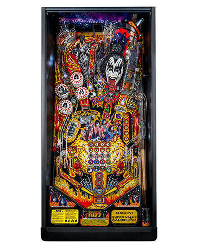 Kiss Pro pinball playfield at Joystix
