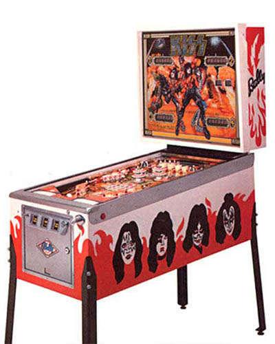 Kiss pinball machine at Joystix
