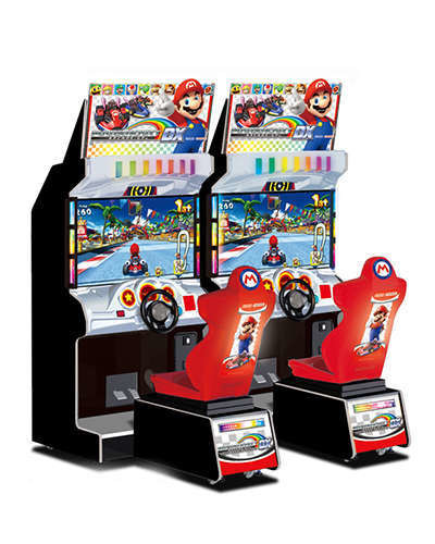 Mario Kart DX racing game at Joystix