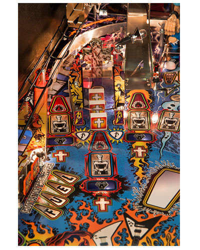 Metallica Pro pinball details at Joystix 2