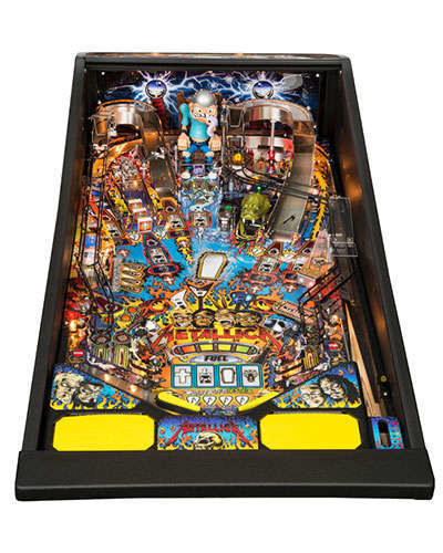 Metallica Pro pinball playfield at Joystix