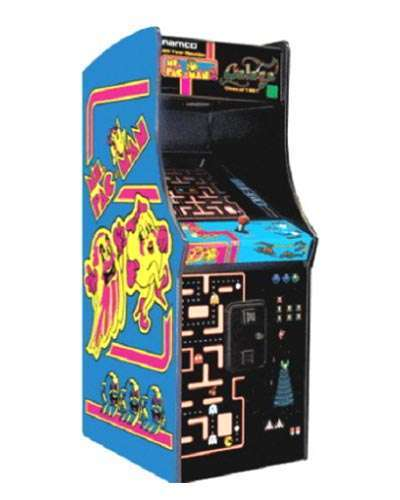 Ms Pac Man Galaga 20th Anniversary game at Joystix