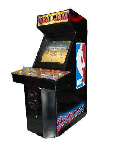 NBA Jam arcade game at Joystix