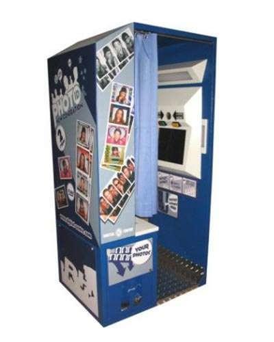 New Generation ID Photo Booth Blue at Joystix