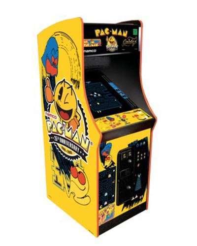 Pac Man 25th Anniversary arcade game at Joystix