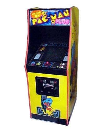 Pac Man Plus arcade game at Joystix