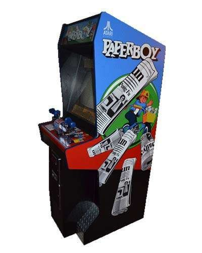 PaperBoy arcade game at Joystix