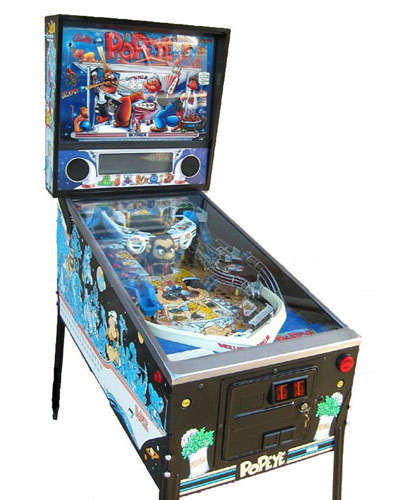 Popeye pinball at Joystix