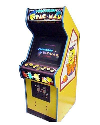 Professor Pac Man arcade game at Joystix