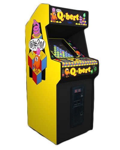 Qbert arcade game at Joystix
