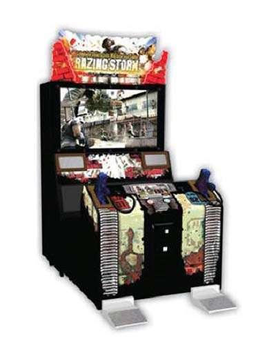 Razing Storm arcade game at Joystix