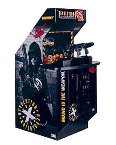 Revolution X arcade game at Joystix