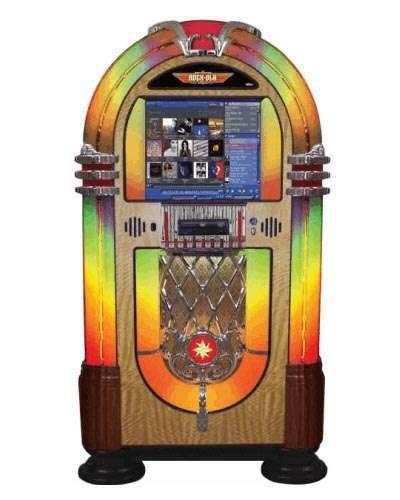 Rock Ola Bubbler Music Center Jukebox at Joystix