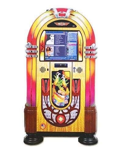 Rock Ola Peacock Bubbler Music Center Jukebox at Joystix