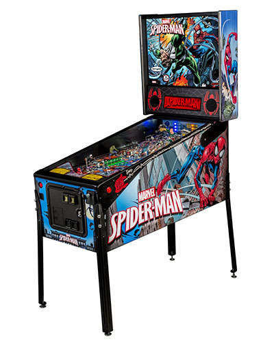 Spiderman Vault Edition pinball at Joystix 2