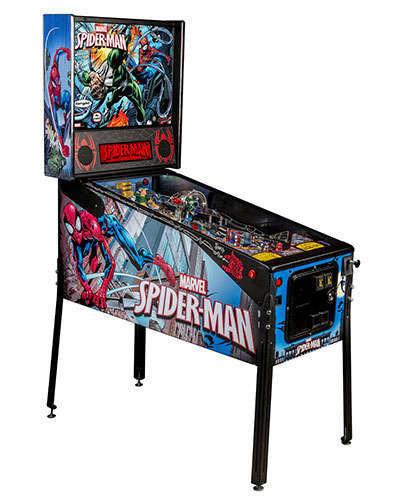 Spiderman Vault Edition pinball at Joystix