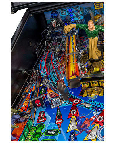 Spiderman Vault Edition pinball details at Joystix 1