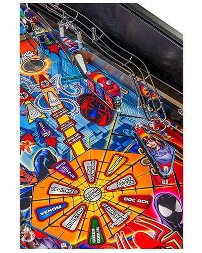 Spiderman Vault Edition pinball details at Joystix 4