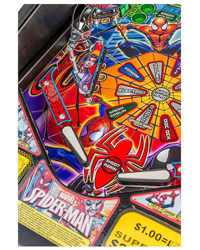 Spiderman Vault Edition pinball details at Joystix 5