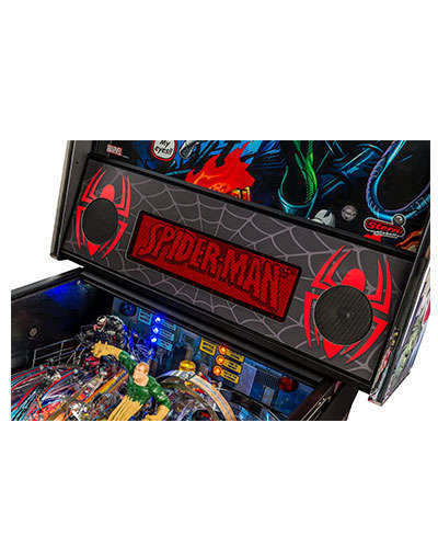 Spiderman Vault Edition pinball details at Joystix 6