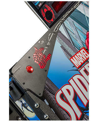 Spiderman Vault Edition pinball details at Joystix 7