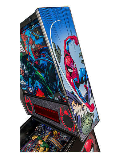 Spiderman Vault Edition pinball details at Joystix 8