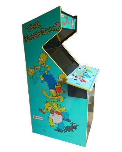 The Simpsons arcade game at Joystix