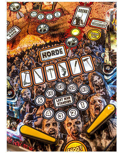 The Walking Dead Limited Edition Pinball details 2 at Joystix