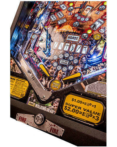 The Walking Dead Limited Edition Pinball details 8 at Joystix