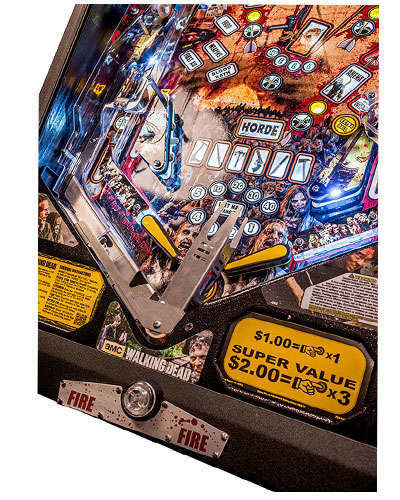 The Walking Dead Limited Edition Pinball details 9 at Joystix