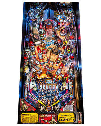 The Walking Dead Pro Pinball playfield at Joystix